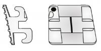 Elite Opti-Mim Mini-Twin Bracket .018