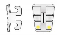 Elite Opti-Mim Mini-Twin Bracket .022